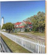 Ocracoke Lighthouse, Ocracoke Island, Nc Wood Print