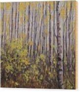 October Aspen Wood Print by Debra Mickelson