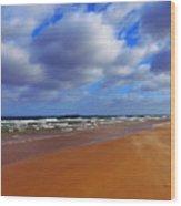 October Beach Wood Print