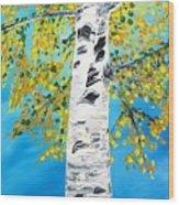 October Birch Wood Print