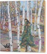 October Christmas Wood Print