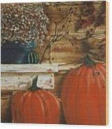 October Decor Wood Print