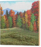 October Ending Wood Print