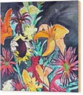 October Flowers Wood Print