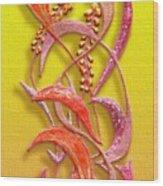 October Grass V3 Wood Print