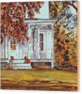 October House  Wood Print