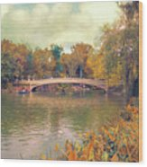 October In Central Park Wood Print