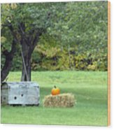 October In Maine Wood Print