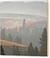 October In The Palouse Wood Print
