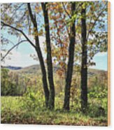 October In Vermont Wood Print