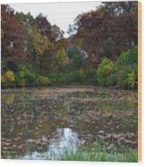 October Leaves Wood Print