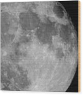 October Moon Wood Print