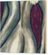 October Nude Wood Print