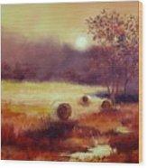 October Pasture Wood Print