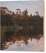 October Reflections On The River Wood Print