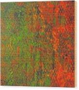 October Rust Wood Print