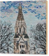 October Sky Of Leipzig Wood Print