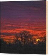 October Sunrise 2 Wood Print