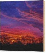 October Sunrise 3 Wood Print