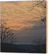 October Sunset Wood Print