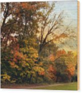 October Trail Wood Print