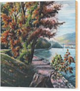 October Visiting Stanley Park Bc Wood Print