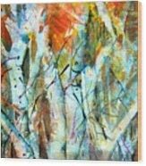October Woods Wood Print