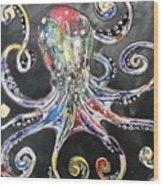 Octopus Apps Wood Print