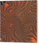 Octopus Red Wood Print