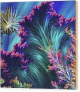 Octopus's Garden Wood Print