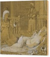 Odalisque With Slave Wood Print