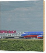 Odd Couple Delta Airlines Southwest Airlines Art Wood Print