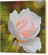 Ode To A Rose Wood Print
