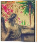 Ode To Barbara One Angelic Mountain Sculpture Garden  Wood Print