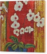 Ode To Orchids Wood Print