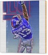 Odell Beckham Jr New York Giants Oil Art 2 Wood Print