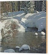Odell Creek Wood Print