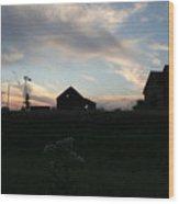 Odell Dusk Wood Print