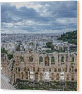 Odeon Of Herodes Atticus - Athens Greece Wood Print