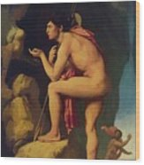 Oedipus And The Sphinx 1808 Wood Print