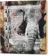 Of Elephants And Men Wood Print