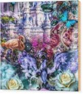 Of Phoenix And Rose Wood Print