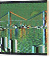 Of Time And The Savannah River Bridge Wood Print