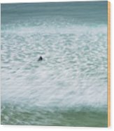 Off To Catch A Wave Wood Print