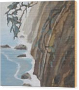 Off Big Sur Wood Print