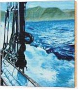 Off Maui Wood Print