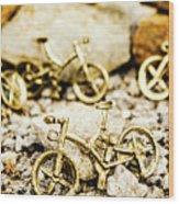 Off Road Bike Trinkets Wood Print