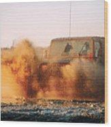 Off Road Mud Splash-1 Wood Print