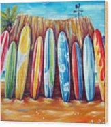 Off-shore Wood Print
