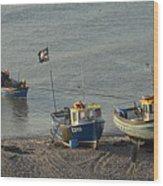 Off To Sea Wood Print